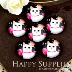 10pcs 12mm Cat Handmade Photo Glass Cabochon GC12-904