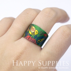 1pcs Bird Handmade Photo Brass Ring PR062