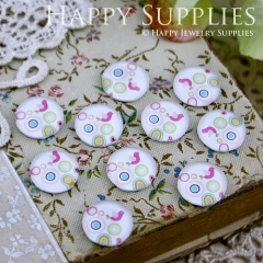 10pcs 12mm Bird Handmade Photo Glass Cabochon GC12-106