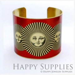 1pcs Face Handmade Photo Brass Cuff Bracelet PBC070