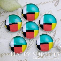10pcs 12mm Geometric Colorful Handmade Photo Glass Cabochon GC12-1159