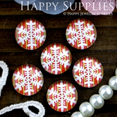 10pcs 12mm Snowflake Handmade Photo Glass Cabochon GC12-311