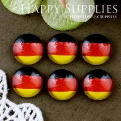 10pcs 12mm National flag Handmade Photo Glass Cabochon GC12-535