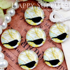 10pcs 12mm Bird Tree Handmade Photo Glass Cabochon GC12-418