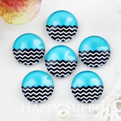 10pcs 12mm Blue Wave Handmade Photo Glass Cabochon GC12-897