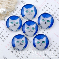 10pcs 12mm Cat Handmade Photo Glass Cabochon GC12-1150