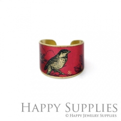 1pcs Bird Handmade Photo Brass Ring PR110