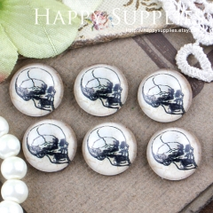 10pcs 12mm Skull Handmade Photo Glass Cabochon GC12-424