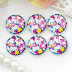 10pcs 12mm Flower Handmade Photo Glass Cabochon GC12-1029