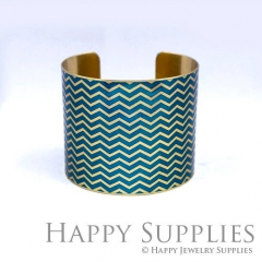 1pcs Decorative pattern Handmade Photo Brass Cuff Bracelet PBC119