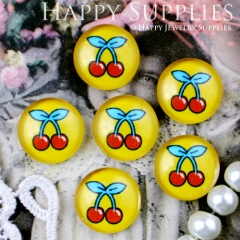 10pcs 12mm Cheery Handmade Photo Glass Cabochon GC12-289
