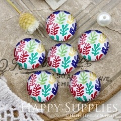 10pcs 12mm Leaf Flower Handmade Photo Glass Cabochon GC12-876
