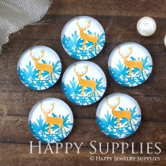 10pcs 12mm Deer Handmade Photo Glass Cabochon GC12-1017