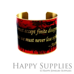 1pcs Letters Handmade Photo Brass Cuff Bracelet PBC085