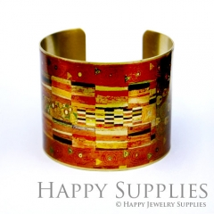1pcs Decorative pattern Handmade Photo Brass Cuff Bracelet PBC032