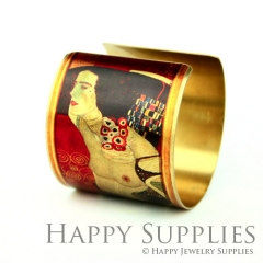 1pcs Woman Handmade Photo Brass Cuff Bracelet PBC041