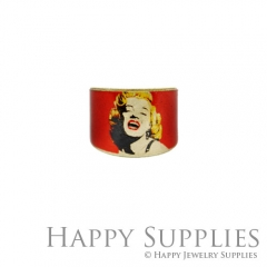 1pcs Woman Marilyn Monroe Handmade Photo Brass Ring PR044