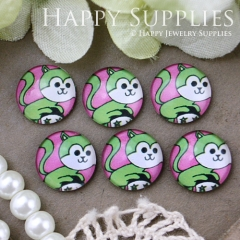 10pcs 12mm Monkey Handmade Photo Glass Cabochon GC12-518