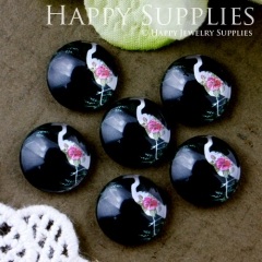 10pcs 12mm Bird Handmade Photo Glass Cabochon GC12-562
