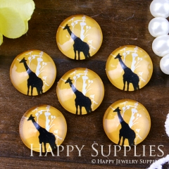 10pcs 12mm Giraffe Handmade Photo Glass Cabochon GC12-549