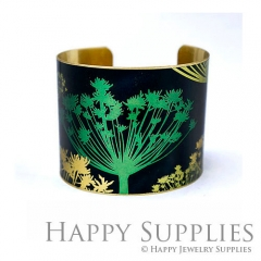1pcs Dandelion Handmade Photo Brass Cuff Bracelet PBC111