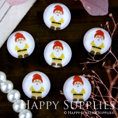 10pcs 12mm Santa Claus Handmade Photo Glass Cabochon GC12-280