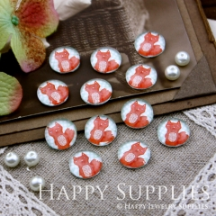 10pcs 12mm Fox Handmade Photo Glass Cabochon GC12-194