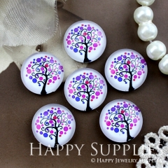 10pcs 12mm Tree Handmade Photo Glass Cabochon GC12-759