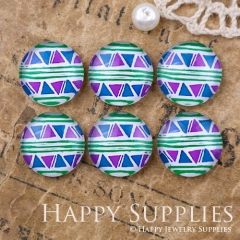 10pcs 12mm Geometric Colorful Handmade Photo Glass Cabochon GC12-1171
