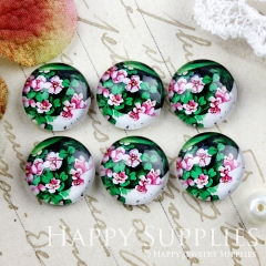 10pcs 12mm Flower Handmade Photo Glass Cabochon GC12-877