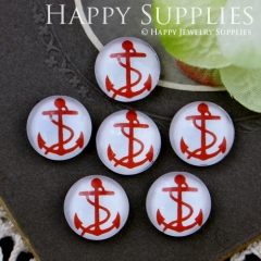 10pcs 12mm Anchor Handmade Photo Glass Cabochon GC12-593