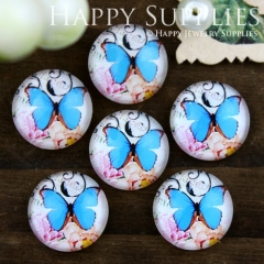 10pcs 12mm Butterfly Handmade Photo Glass Cabochon GC12-743