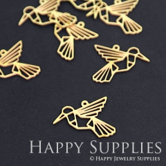 10pcs Raw Brass Bird Charm Pendant Fit For Necklace Earring Brooch RD065