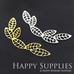 1pcs Leaf Charm Pendant Fit For Necklace Earring Brooch GDSD112