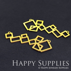 4pcs Raw Brass Geometry Charm Pendant Fit For Necklace Earring Brooch RD182