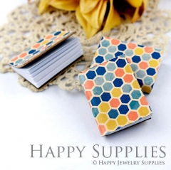 2pcs Colorful Honeycomb Handmade Mini Photo Leather Book BK07