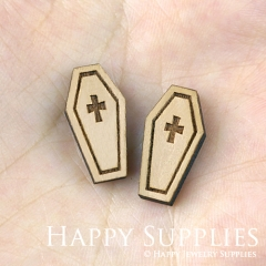 4pcs DIY Laser Cut Wooden Easter Charms SWC106