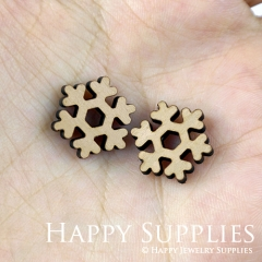4pcs DIY Laser Cut Wooden Snowflake Charms SWC122