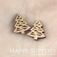 4pcs DIY Laser Cut Wooden Christmas tree Charms SWC134