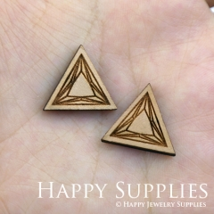 4pcs DIY Laser Cut Wooden Triangle Charms SWC60