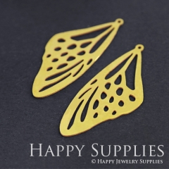 4pcs Raw Brass Butterfly Wing Charm Pendant Fit For Necklace Earring Brooch RD188