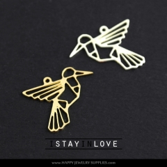 2pcs Bird Charm Pendant Fit For Necklace Earring Brooch GDSD065