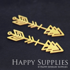 4pcs Raw Brass Arrow Charm Pendant Fit For Necklace Earring Brooch RD198