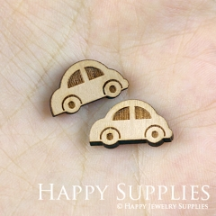 4pcs DIY Laser Cut Wooden Car Charms SWC129