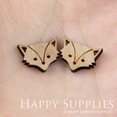 4pcs DIY Laser Cut Wooden Fox Charms SWC11