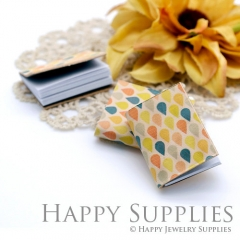 2pcs Colorful Teardrop Handmade Mini Photo Leather Book BK18