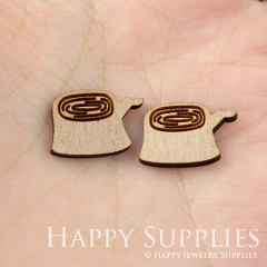 4pcs DIY Laser Cut Wooden Tree Charms SWC23
