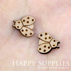 4pcs DIY Laser Cut Wooden Bee Charms SWC47