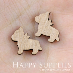 4pcs DIY Laser Cut Wooden Dog Charms SWC02