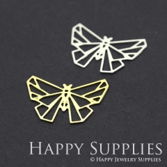 2pcs Butterfly Charm Pendant Fit For Necklace Earring Brooch GDSD217